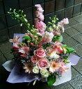 敬老の日 お彼岸 お供え プレゼントにも おまかせ ベビーピンク色 フラワーアレンジメント 花 人気ランキング 花ギ…