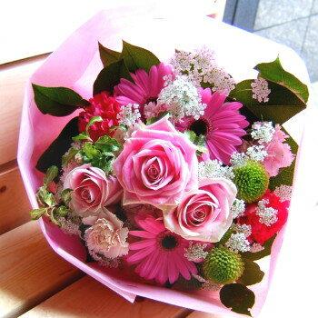 バレンタイン 御祝 開店祝い プレゼント おまかせ ピンク系 ブーケ 花束 バレンタイン 御祝 開店祝いギフト お祝い 花 人気ランキング 花ギフト 花束 結婚記念日 (就任 送別 誕生日 などにも) バラ 還暦 97 花束