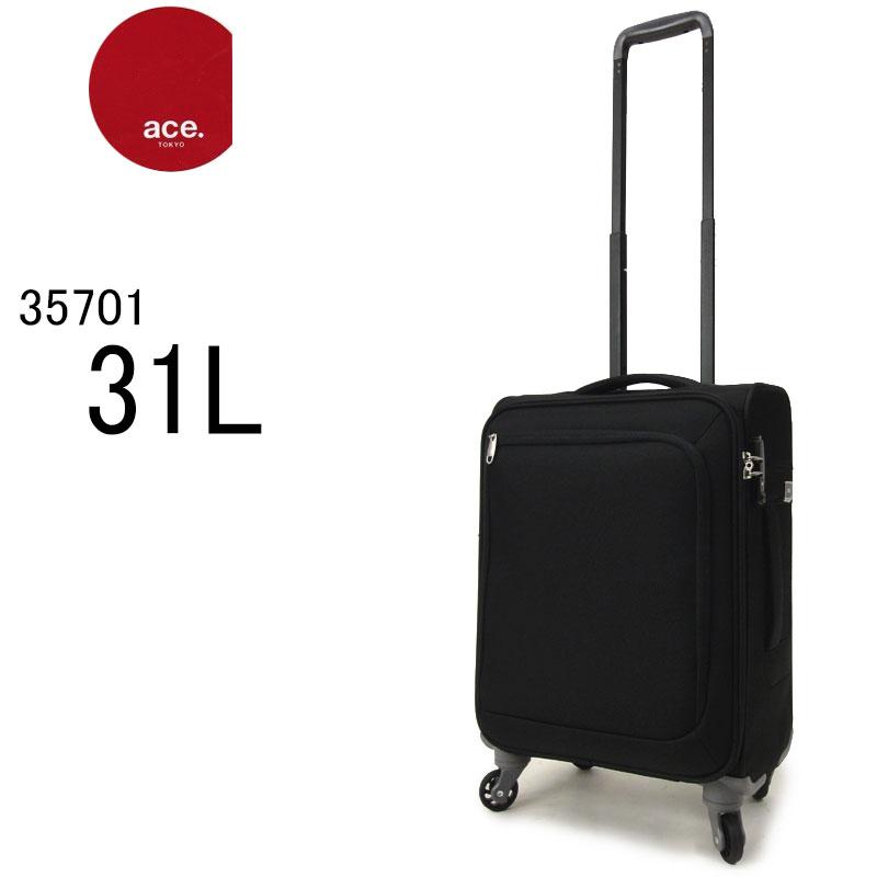 【ace TOKYO エース トーキョー】キャリーバッグ 機内持ち込みサイズ スーツケース ソフトキャリーケース ファスナー TSAロック 軽量丈夫 旅行 トラベルバッグ 35701 ロックペイントSS(31L/2.3kg/1泊〜2泊) 送料無料 あす楽対応(ラッピング不可商品)