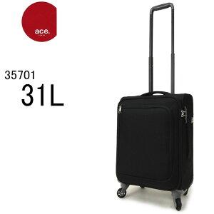 ace TOKYO エース トーキョー キャリーバッグ 機内持ち込みサイズ スーツケース ソフトキャリーケース ファスナー TSAロック 軽量丈夫 旅行 トラベルバッグ 35701 ロックペイントSS(31L/2.3kg/1泊〜2