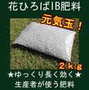 花ひろば IB肥料 元気玉!(2kg) 【資材】 バラ 果樹 庭木の肥料 化成肥料●●