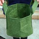 ガーデンポーチ 【Lサイズ 取っ手付】 根域制限バッグ リサイクル植木鉢 直径25.5cm 収納バッグ