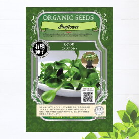 【有機種子】 ひまわり/スプラウト Sサイズ 15g(約320粒) 種蒔時期 周年