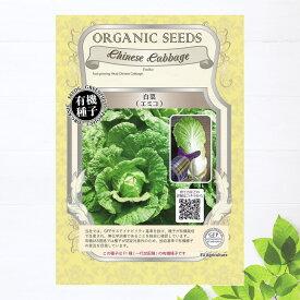 【有機種子】 白菜/エミコ Sサイズ 0.1g(約20粒) 種蒔時期 3〜4月、8〜9月