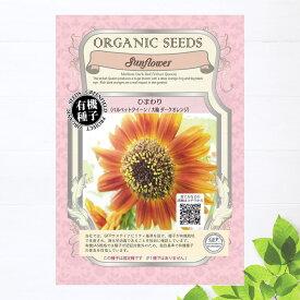 【有機種子】 ひまわり/ベルベットクイーン/大輪ダークオレンジ Sサイズ 0.9g(約60粒) 種蒔時期 4〜6月