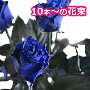 大臣賞 大輪 青バラ 花束 本数指定OK 結婚記念日 薔薇 妻 誕生日 プレゼント プロポーズ 10本 20本 30本
