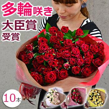 誕生日 スプレーバラの花束 妻 結婚記念日 プレゼント バレンタイン プロポーズに薔薇を(10本〜)