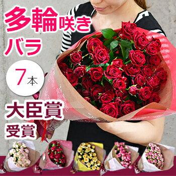 スプレーバラの花束 誕生日 プレゼント 結婚記念日 妻 プロポーズ 薔薇 本数指定(7本〜)送料無料