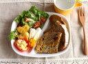 ホワイト ツイン ランチプレート 涼しげな白い食器 二つ仕切ランチプレート【新生活】