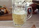(再入荷)ドロップ/ガラスビールジョッキ520cc【直輸入価格】 【店内4000円以上で送料無料+フランス産ゲランドの塩おまけ】【新生活】