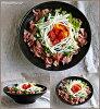 kuroppu 21cm浅型盛ri鉢浅鉢黒有,作为餐具酷的黑色的餐具