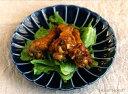 カネコ小兵 ぎやまん陶 菊形中皿 20.5cm ブルー/ブラウン/グリーン//美濃焼 和食器 お皿 おしゃれ
