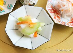 (クーポン配布中)八角 小皿 (黒線) 10.5cm 有田焼// 和食器 食器 正月