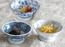 藍染 花型高台小鉢 12cm たこ唐草/いちご/ぶどう//美濃焼 和食器 キャッシュレス 還元 買いまわり