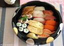 日月 寿司菓子桶 27cm ブラック 漆器