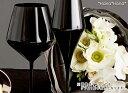 カラーズ/ブラック スタイル バーガンディ 赤ワイングラス 640ml ガラス漆加工 // おしゃれ