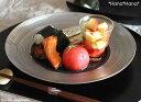 ディモーダ ブラック/プラチナ ディナープレート 28cm シルバー//美濃焼 お皿 おしゃれ キャッシュレス 還元