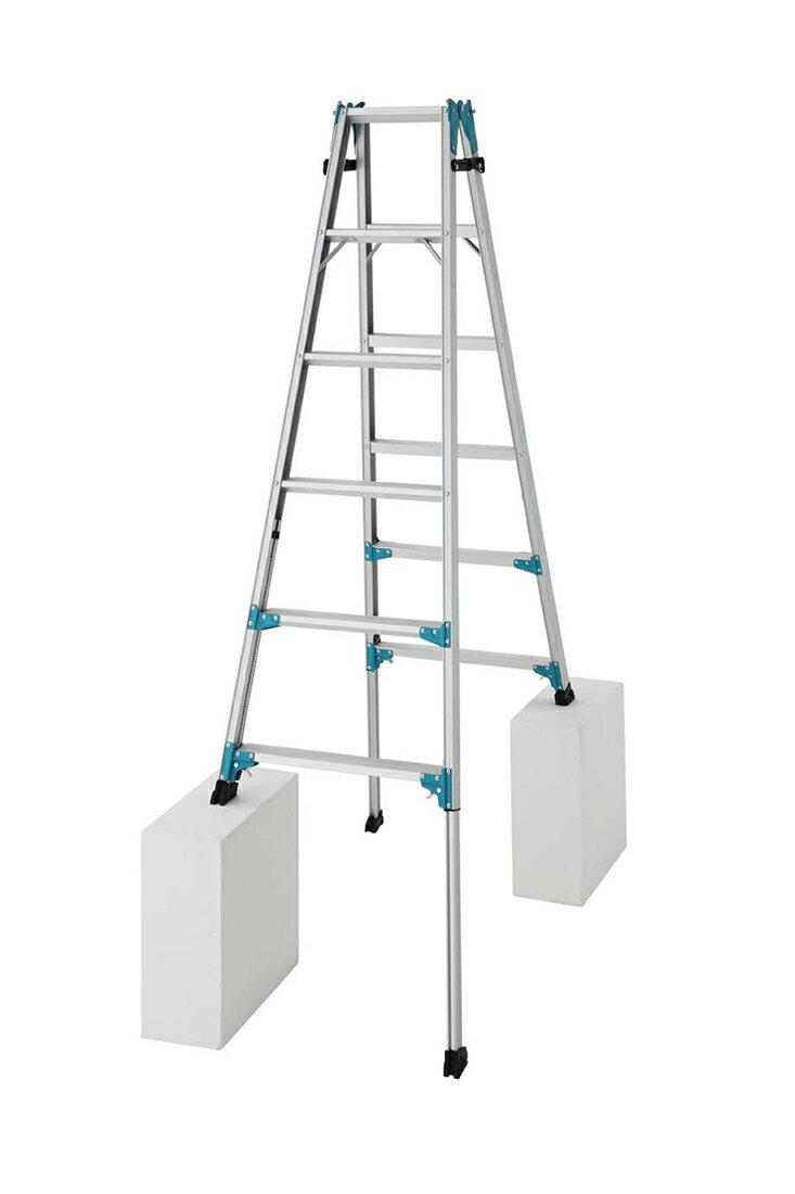 【RYX1.0-18】長谷川工業 ハセガワ hasegawa 伸縮脚立 はしご兼用脚立 はしごになれる脚立 脚立 161cm〜206cm