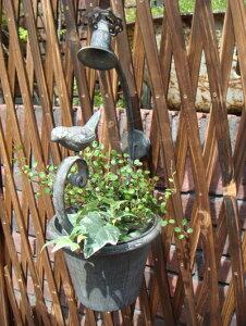 バードバス 小鳥 シャワー ガーデニング ガーデン 雑貨 小鳥 アンティーク アイアン【花遊び】『バードフラワーハンガー』