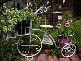 ガーデニング ガーデン 雑貨『ガーデン三輪車・ホワイト』