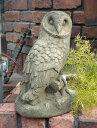 ふくろう アニマル イングリッシュ 英国ガーデニング ガーデン 雑貨 ストーン製【花遊び】『English Owl』