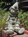 人形 ピエロ イングリッシュ 英国ガーデニング ガーデン ストーン製【花遊び】『Medium Clown』