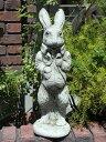 うさぎ アニマル イングリッシュ 英国ガーデニング ガーデン 雑貨 ストーン製【花遊び】『English Stylist Rabbit』