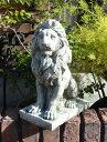 ガーデニング ガーデン ライオン イングリッシュ英国 雑貨 ストーン製【花遊び】 『Sitting Lokking Lion・Left』