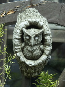 ガーデニング ガーデン プレート 雑貨 ストーン製『English Garden Owl』