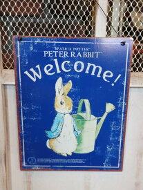 ガーデニング 雑貨 ガーデン プレート『Peter Rabbit ティンプレート・Watering can』
