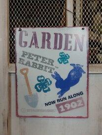 ガーデニング 雑貨 ガーデン プレート『Peter Rabbit ティンプレート・Silhouette Garden』