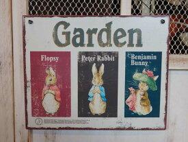 ガーデニング 雑貨 ガーデン プレート『Peter Rabbit ティンプレート・Garden』