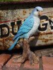 小鳥セキセイインコ置物樹脂アニマル動物雑貨ガーデニングガーデン【花遊び】セキセイインコちゃん