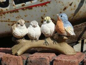 ガーデニング雑貨 ガーデン 小鳥 アニマル 動物【花遊び】『カラフルレストバード4』