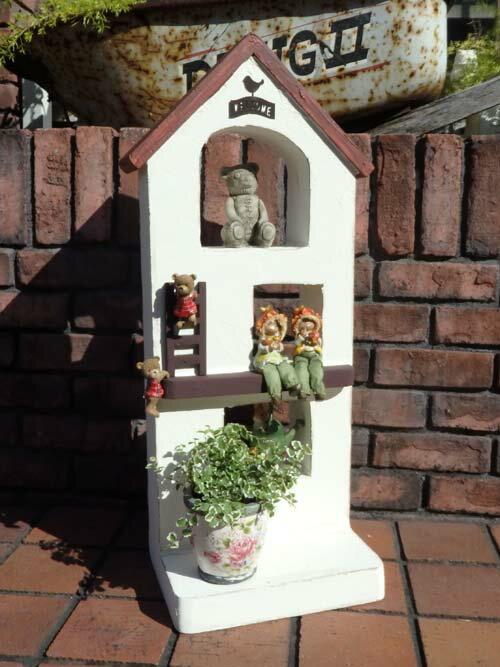 ハウス 家 オーナメント 樹脂 ガーデニング ガーデン アンティーク【花遊び】『ガーデンデコ!ハウス』