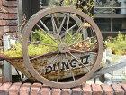 車輪ホイール台車トレリスフェンス木製ウッドガーデニングガーデン雑貨アンティーク【花遊び】ウッド♪ブラウン車輪