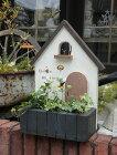 ハウス家オーナメント樹脂ガーデニングガーデンアンティーク【花遊び】小さな家白いドア