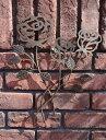 ガーデニング雑貨 ガーデン ローズ プレートアイアン サイン 壁掛け【花遊び】『ローズウォールオーナメント』【7月下旬のお届け予定です】