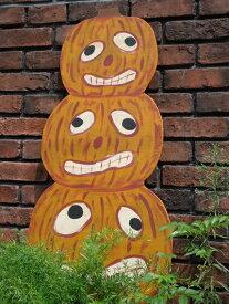 ハロウィン かぼちゃ パンプキン オーナメントガーデニング ガーデン アンティーク 送料無料【花遊び】『3パンプキンピラミッドパネル』他の商品との同梱はお受け出来ません。同梱ご希望でも、別途送料が発生致します。