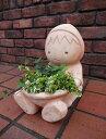 女の子 人形 鉢 植木鉢 プランター寄せ植え ガーデニング ガーデン【花遊び】『森のおつかい♪テラコッタ赤ずきんちゃんポット』
