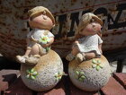 人形ドールきのこ陶器雑貨カントリーガーデニングガーデン約W11cmD10.5cmH18cm【花遊び】カントリーラブリードールボール