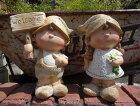 人形ドールきのこ陶器雑貨カントリーウエルカムガーデニングガーデン約W18.5cmD11cmH25cm【花遊び】カントリーラブリードールwelcome