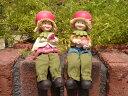 ガーデニング雑貨 ガーデンお人形 ドール 妖精 お座り 【花遊び】『おすわり妖精♪ピーチ』