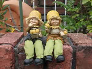 ガーデニング雑貨 ガーデンお人形 ドール 妖精 お座り 【花遊び】『おすわり妖精♪じゃがいも』