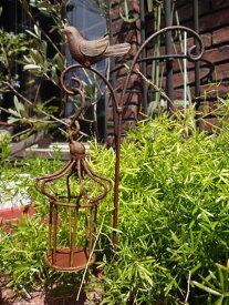 バード ゲージ フェンス アイアン ガーデニングミニフェンス 柵 ガーデン アンティーク 【花遊び】『バードケージ・ガーデンピック』