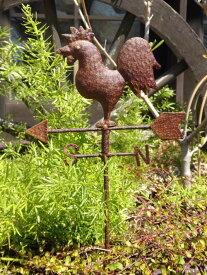 アイアン ガーデニング ガーデン アンティーク『風見鶏・ガーデンピック』