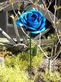ガーデニング ガーデン 雑貨『アイアン!メタリックローズピック・ブルー』