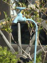 ガーデニング雑貨 ガーデン 蛇口 車輪 アイアンハンギング インテリア 雑貨 プランター【花遊び】『ナチュール♪タップピック・ブルー』