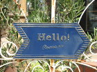 ガーデニング雑貨ガーデンプレートアイアンサインウエルカム壁掛け雑貨【花遊び】『ブリキwelcomeラウンドプレート』