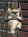 雑貨 ガーデニング ガーデン ドッグ アニマル【花遊び】『ブランコ♪柴犬』